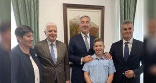 Hrabrom Đorđu iz Martinića čestitao i Đukanović